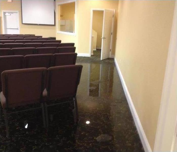 Commercial Water Damage – Amityville Meeting Room Before