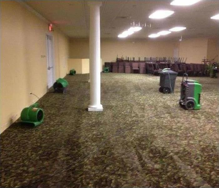 Commercial Water Damage – Amityville Meeting Room After